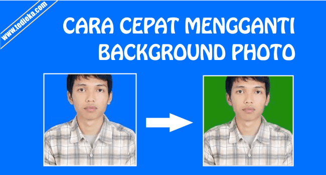 cara mengganti background photo