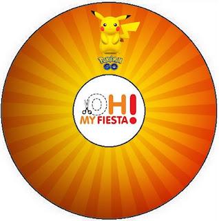 Etiquetas de Pikachu para CD's.