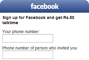 Free recharge from facebook