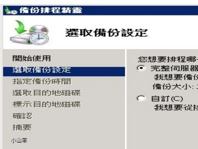 windows server backup教學