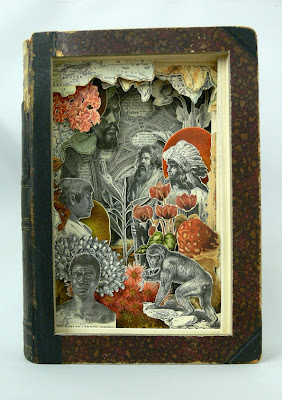Arte con libros antiguos