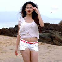 Parul gulati in white dress stills on beach