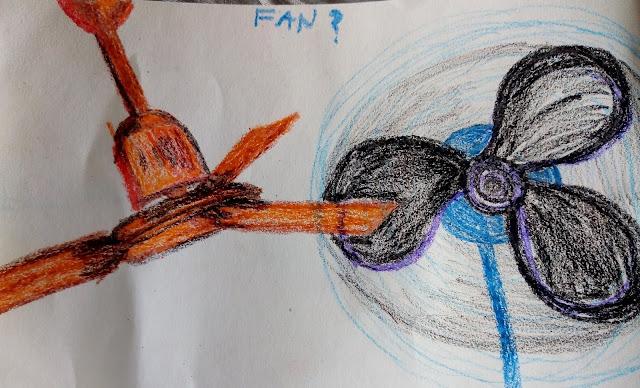 Electric Fan Drawing.