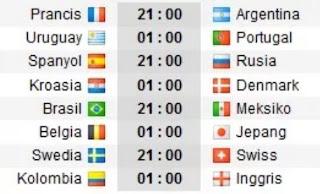 Jadwal 16 Besar Piala Dunia 2018 Rusia - Siaran Langsung Trans TV