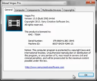 sony vegas 13 serial code