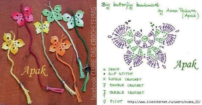 Lo Spazio Di Lilla Farfalle Crochet Con Schemi Crochet