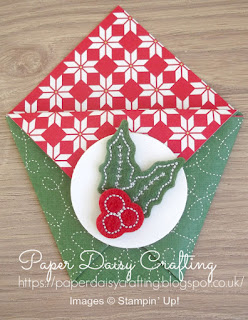 Quilted Christmas by Stampin' Up! treat pouch