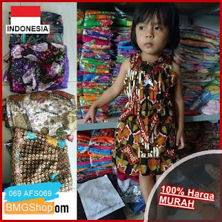 AFS069 Dress Anak Motif Batik Lucu BMGShop