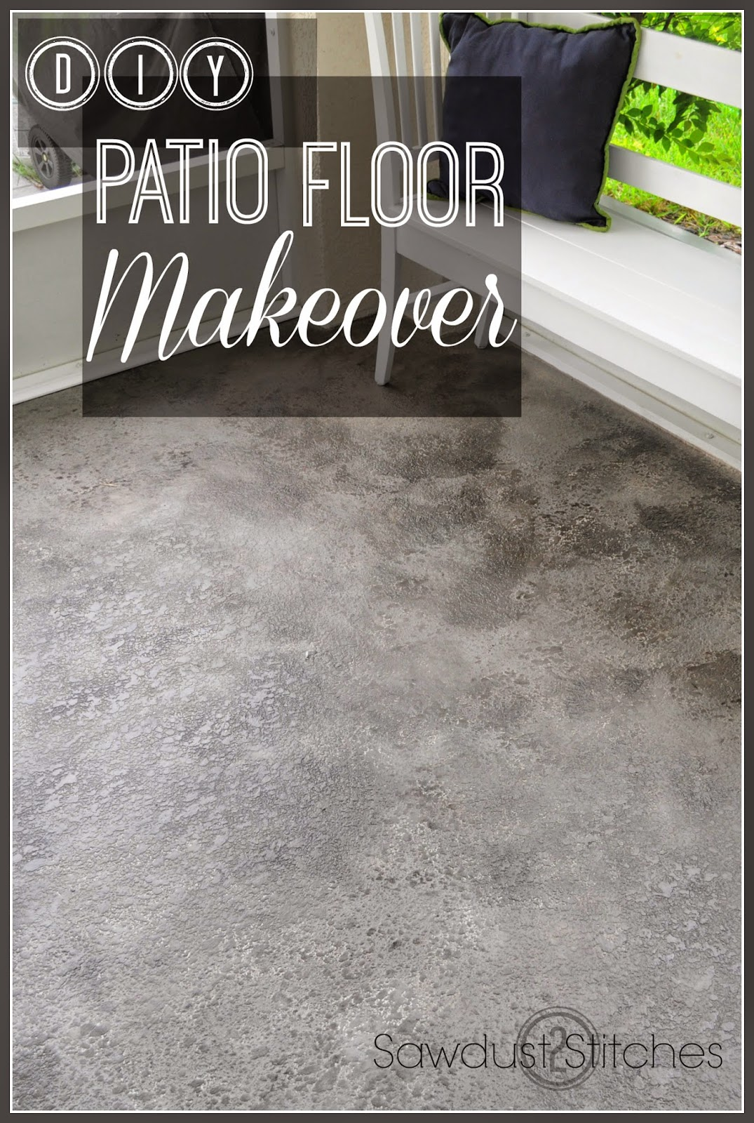 Patio Floor Makeover Sawdust 2 Stitches