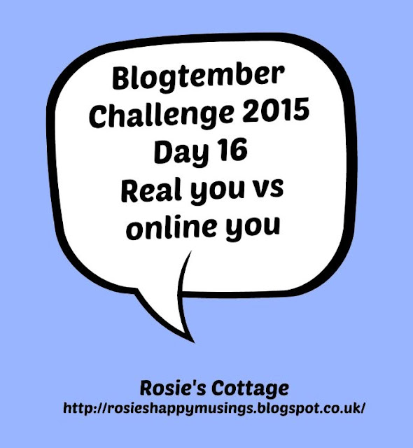 Blogtember Challenge Real you vs online you