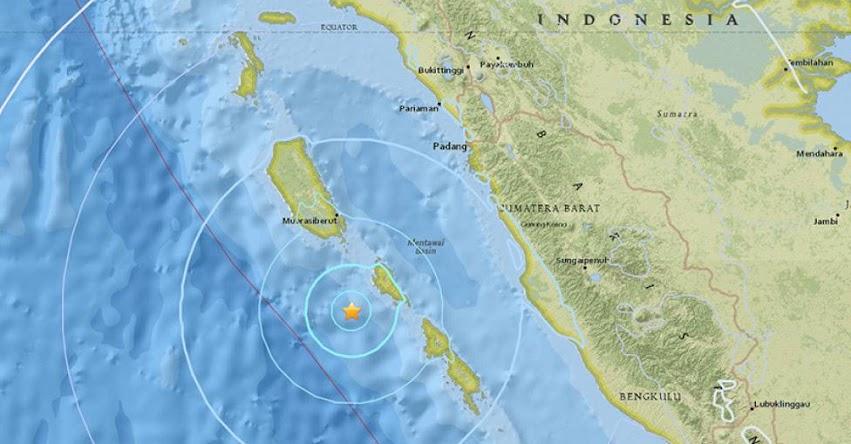 TERREMOTO EN INDONESIA de Magnitud 5.5 - Alerta de Tsunami (Hoy Domingo 5 Agosto 2018) Sismo Temblor EPICENTRO - Muara - Siberut - Sumatra - USGS