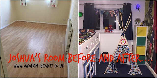 AN AVENGERS BEDROOM FOR A FOUR YEAR OLD….
