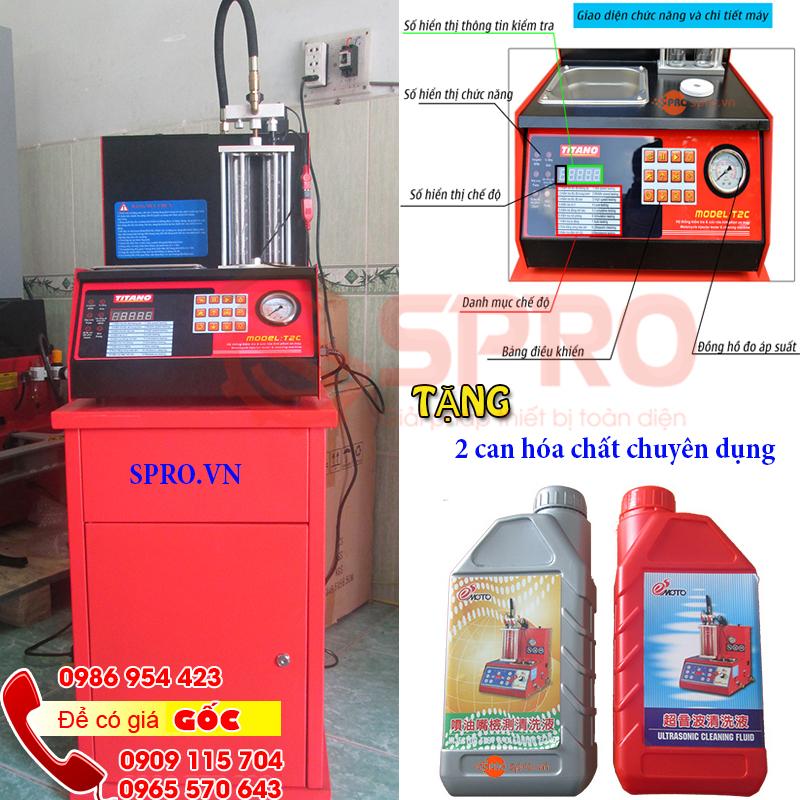 Máy súc rửa béc phun xăng điện tử Titano T2C