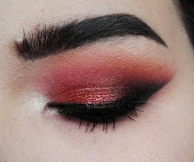 Tuto Makeup Red Eyeshadow