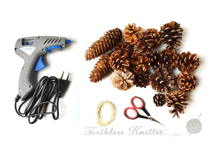 Pine Cones Christmas Tree Decorations / Ozdoby Choinkowe z Szyszek
