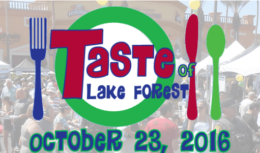Oct. 23 | Taste of Lake Forest Offers Samples From Over 20 Restaurants, Entertainment and Fun!