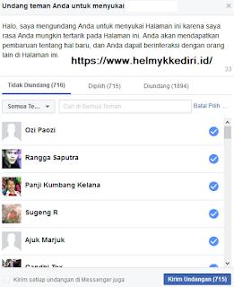 konfirmasi pertemanan facebook sekali klik