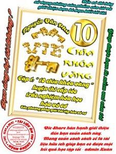 10 chìa khóa vàng luyện thi cấp tốc trắc nghiệm hóa học hóa vô cơ: Tập 1