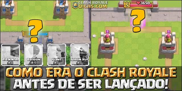 Primeira versão do Clash Royale em Agosto de 2015