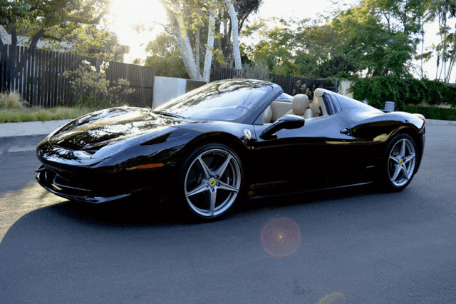 Ferrari 458 Italia Spyder for rent