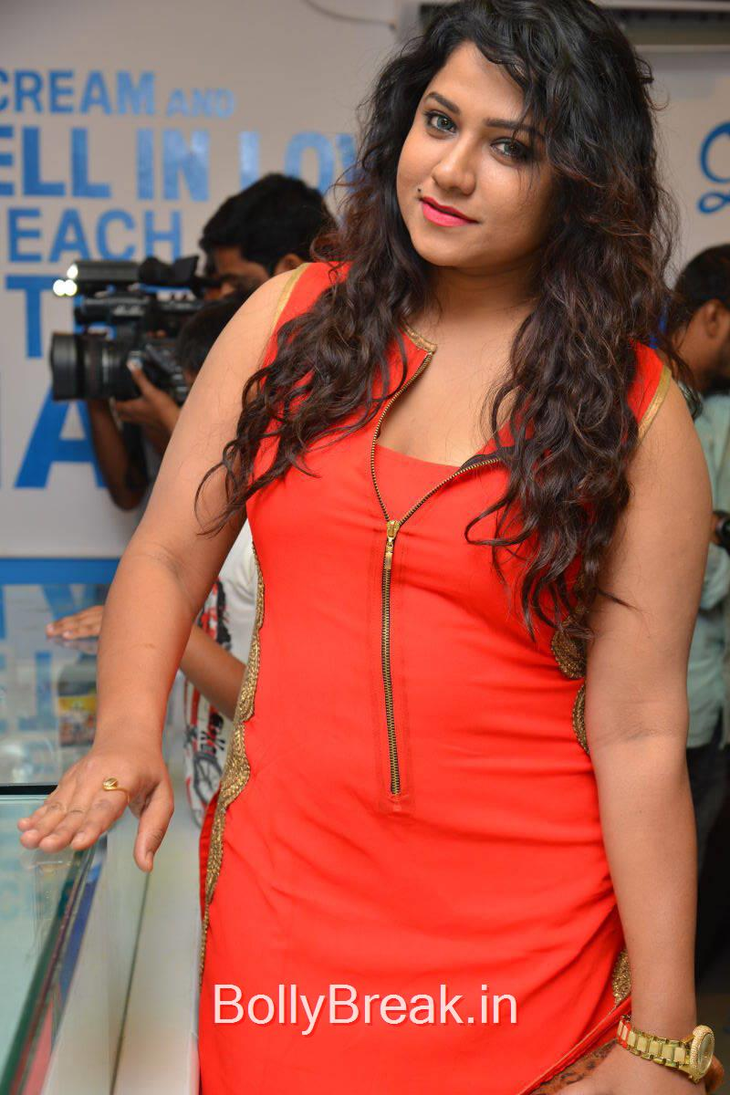 Jyothi Photoshoot Stills in Red Dress, Actress Jyothi Hot Pics from Makers of Milk Shakes Launch