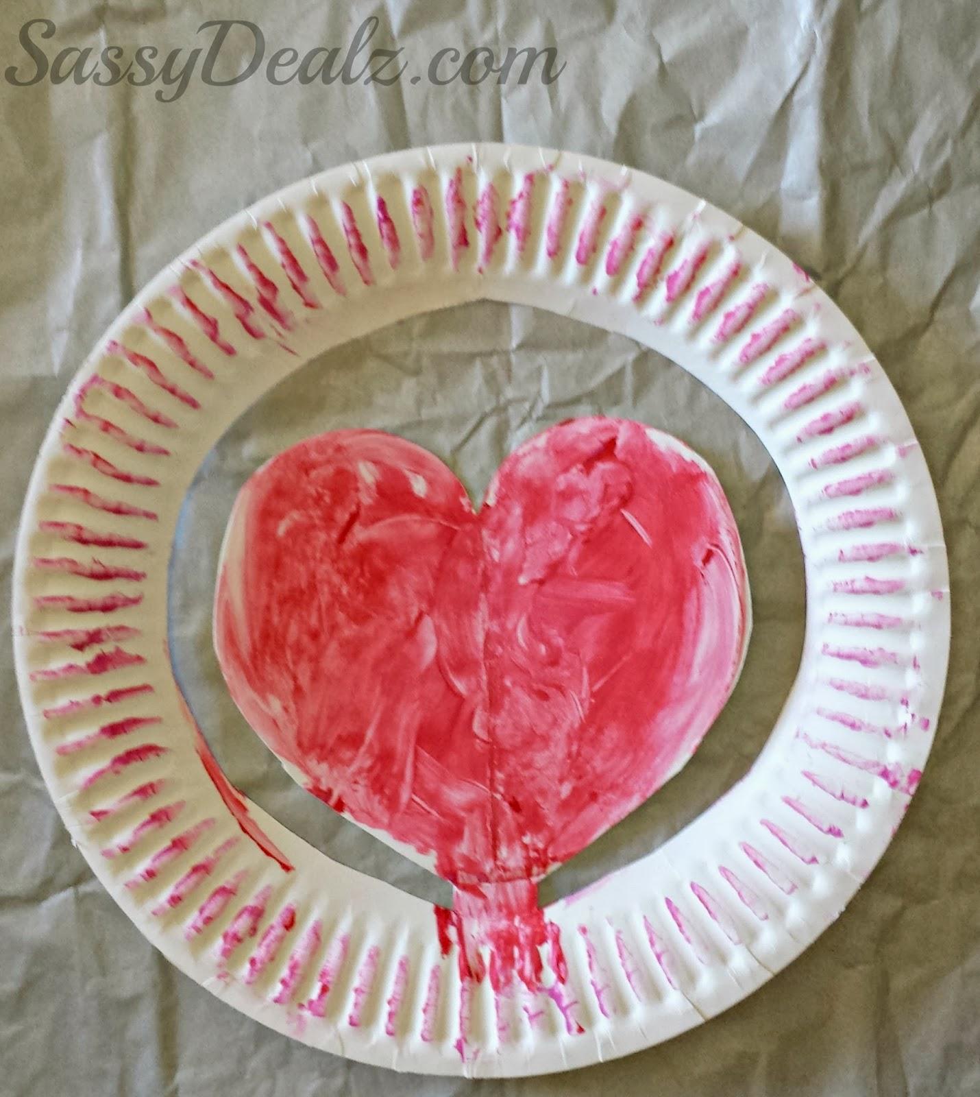 Valentine Heart Paper Plate Hat Craft