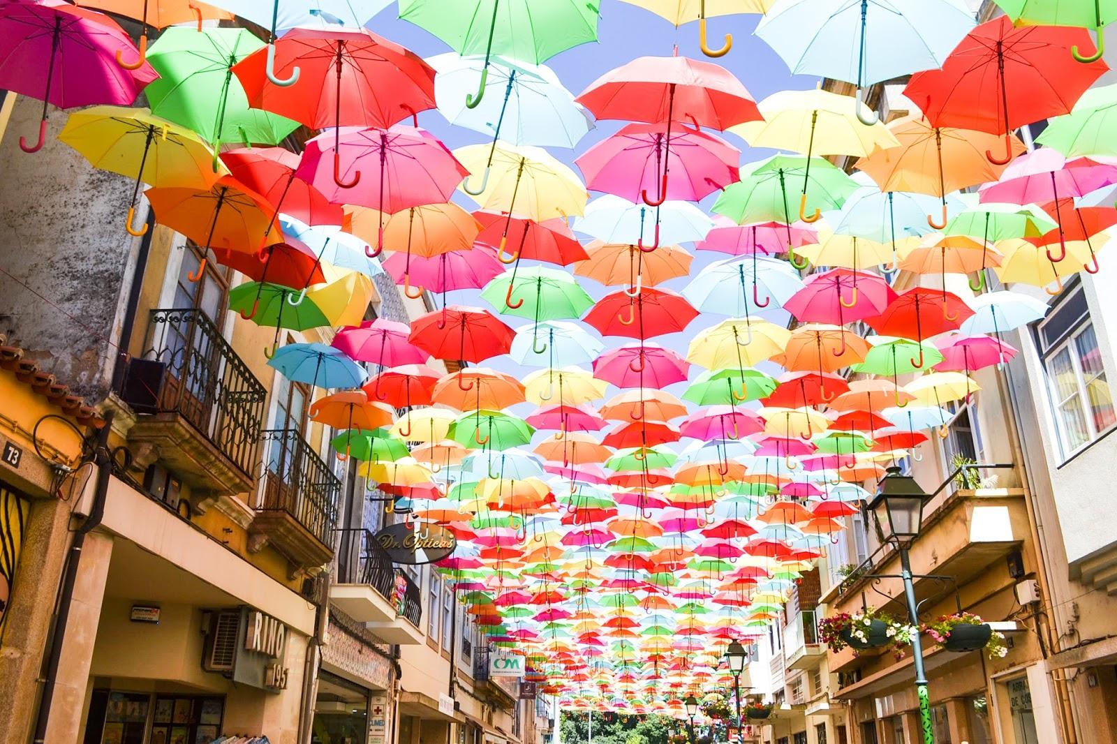Águeda, Aveiro, Umbrellas sky project, Portugal, Portugalsko, ejnets
