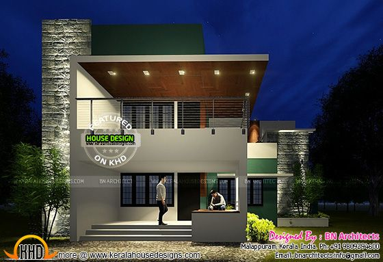 Contemporary house in Malappuram, Kerala