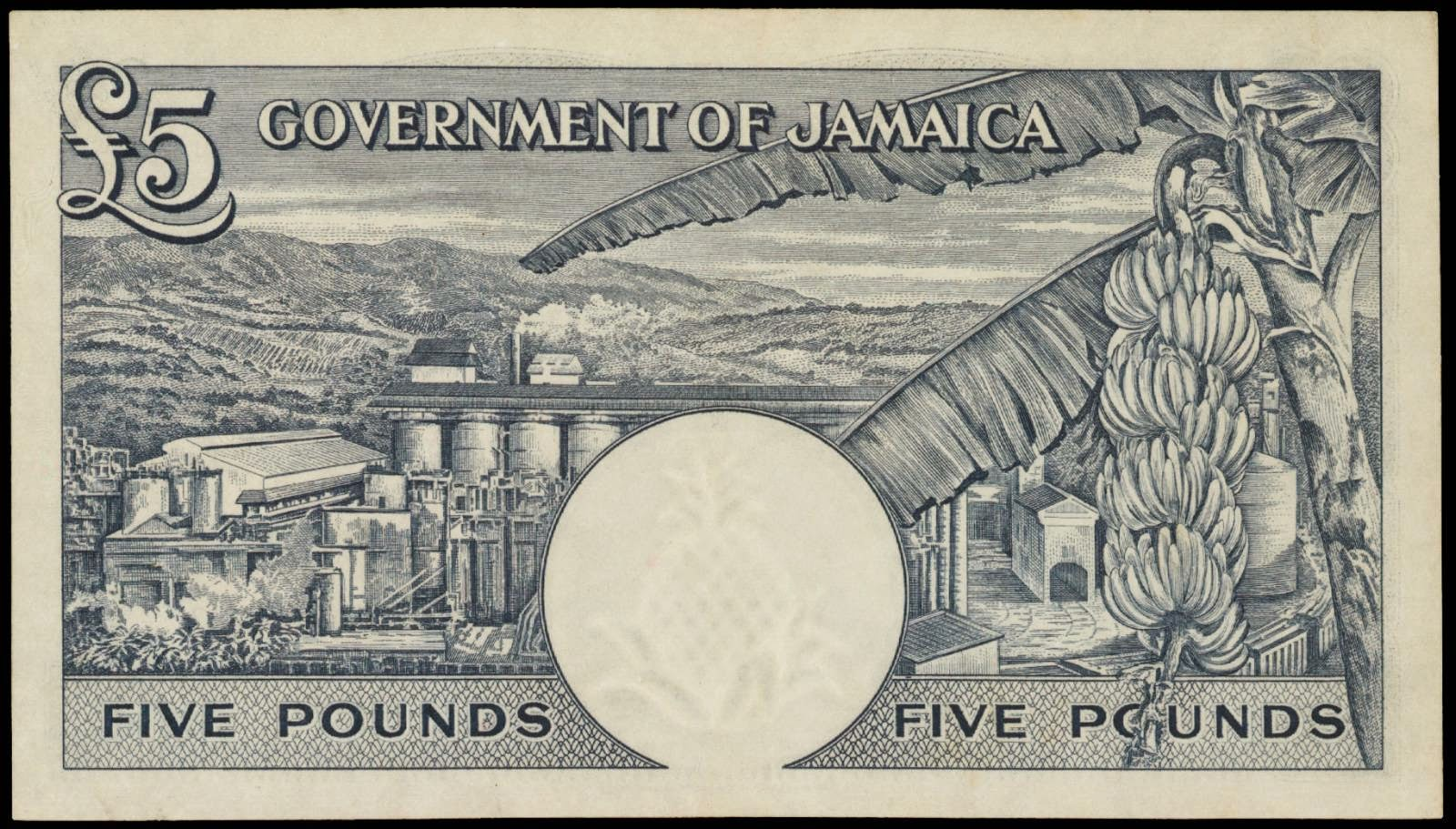 1960 Five Pounds Bank Note from Jamaica