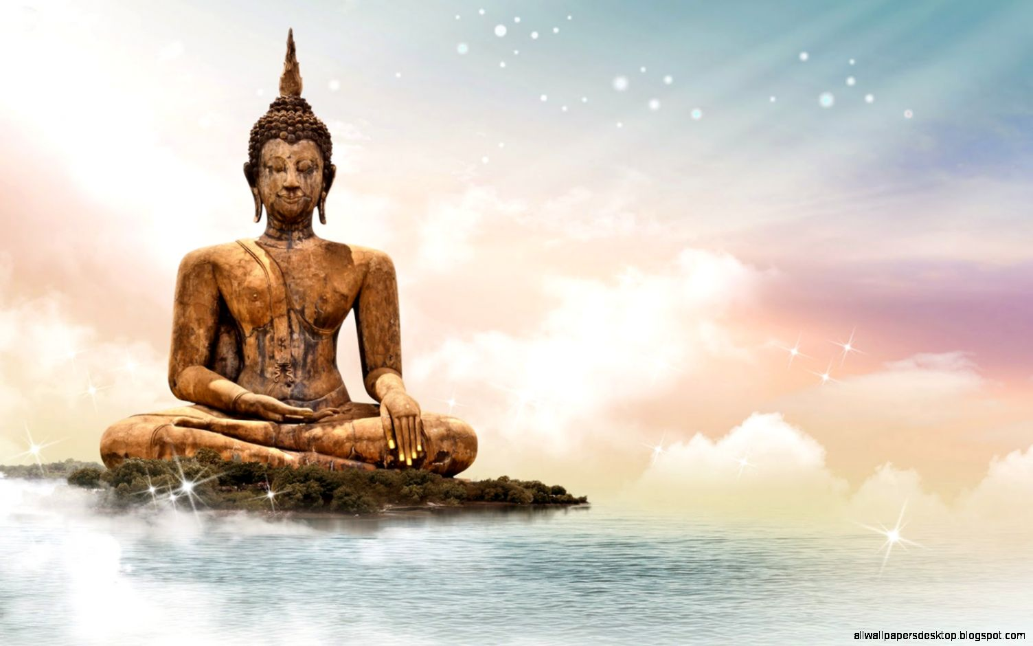 Buddha Statue Stone Heart Hd Wallpaper