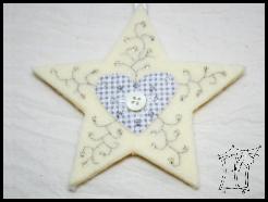 haftowane gwiazdy swiateczne