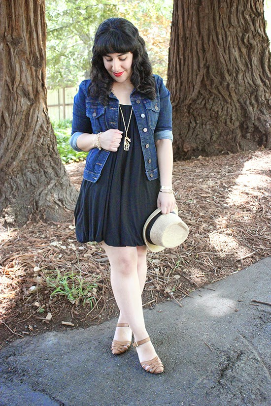 LBD, Denim Jacket and Lily for Target Necklace