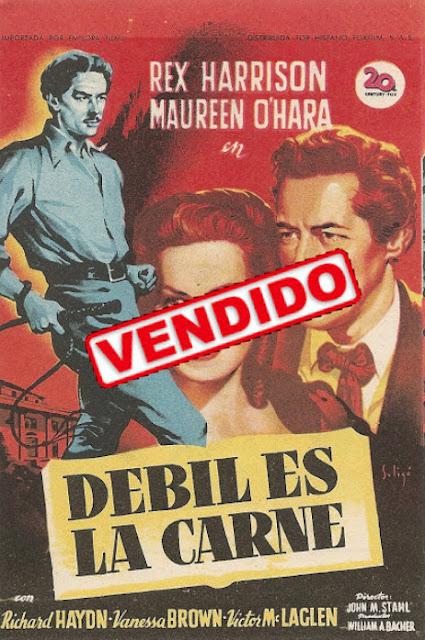 Programa de Cine - Débil es la Carne - Rex Harrison - Maureen O'Hara