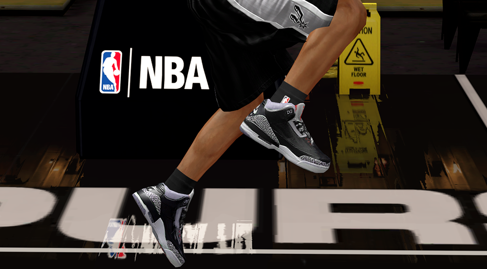 the best attitude dc647 f0871 Air Jordan 3 Black Cement Shoes in NBA 2K14