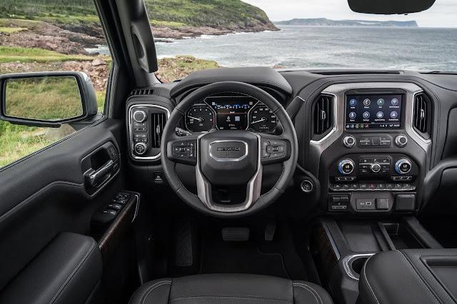 Instrument Panel of 2019 GMC Sierra Denali 1500 4WD