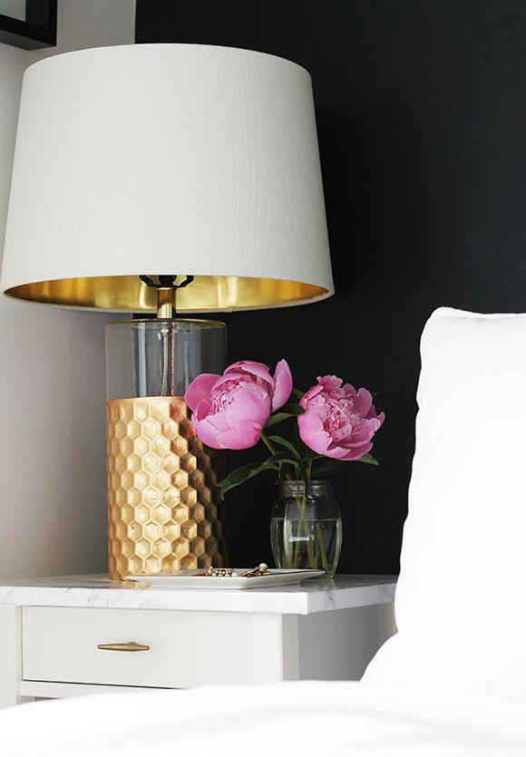 lampe a poser doree