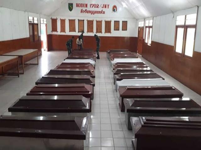 Kodim Jayawijaya Jadi Posko Evakuasi Korban Pembantaian 31 Karyawan Istaka Karya di Nduga