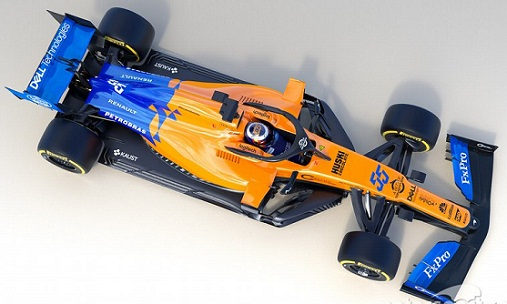McLaren F1 new car MCL34 for 2019 season