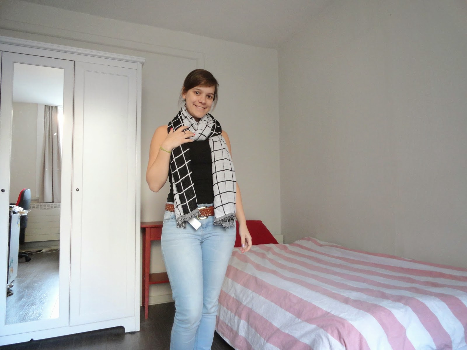Clothes & Dreams: Shoplog: Bershka, H&M, Pimkie + ASOS: H&M black and white two sides checked top