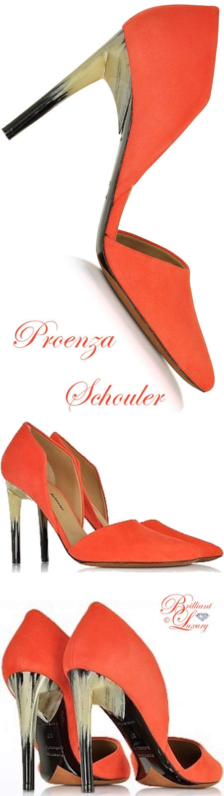 Brilliant Luxury ♦ Proenza Schouler Suede Pumps