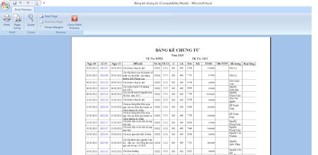 Cách căn chỉnh lề Excel 2007 Excel 2010 Excel 2013 Excel 2016 xem trước khi in
