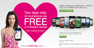 T-mobile free smartphone offer