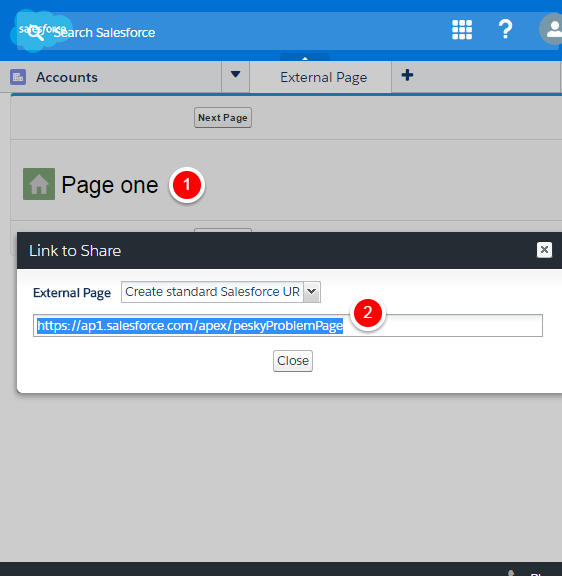 The curious case of the custom redirection on Salesforce Console