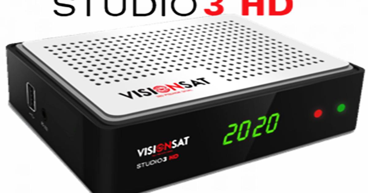 Atulizações Visionsat Studio 3 HD