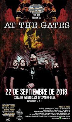 Poster Concierto de AT THE GATES en Bogotá