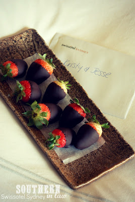 Chocolate Covered Strawberries at the Swissotel Sydney
