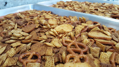 Homemde Snack Mix Cooling