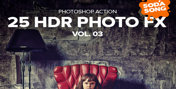 25 HDR Photo FX V.3 – Photoshop Action (GraphicRiver – 10126774)