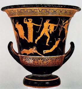 moartea-copiilor-niobeei-pictură-pe ceramică-sec-IV-iHr