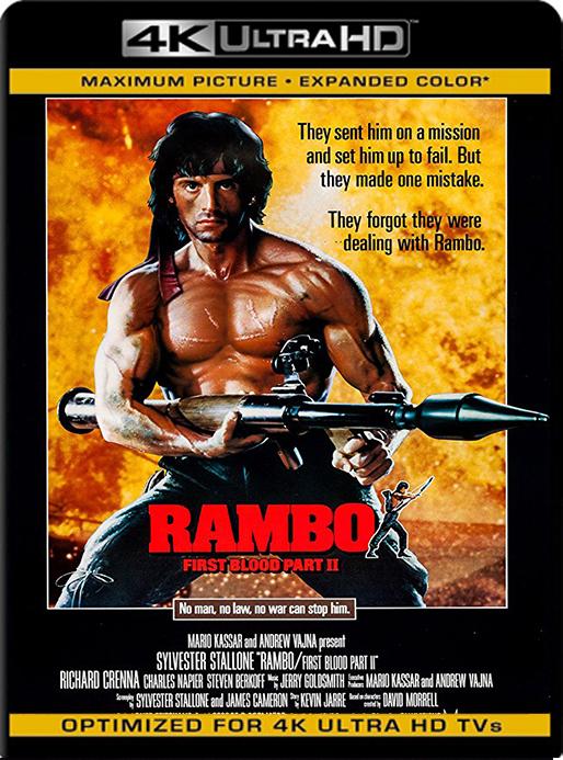 Rambo II (1985) 4K  2160p UHD [HDR] Latino [GoogleDrive] MacacoupHD
